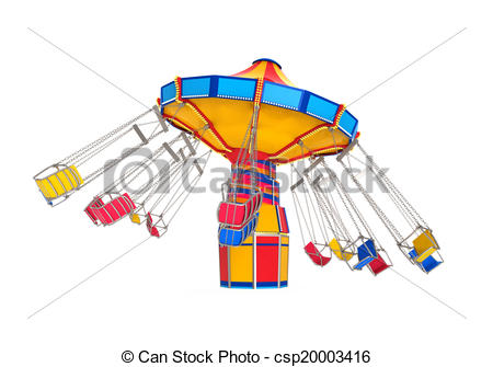 Carousel clipart swing Csp20003416 Clipart Carnival  Ride