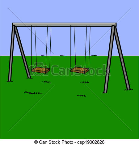 Swing clipart empty Illustration of swings Playground Playground