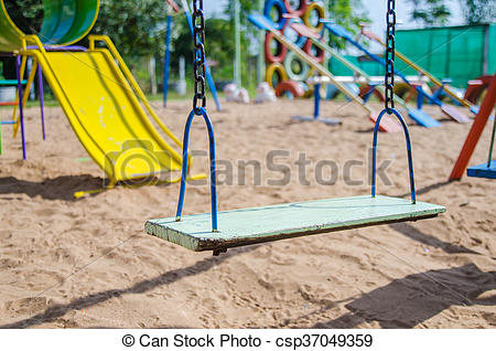 Swing clipart empty Stock Images Empty swing of