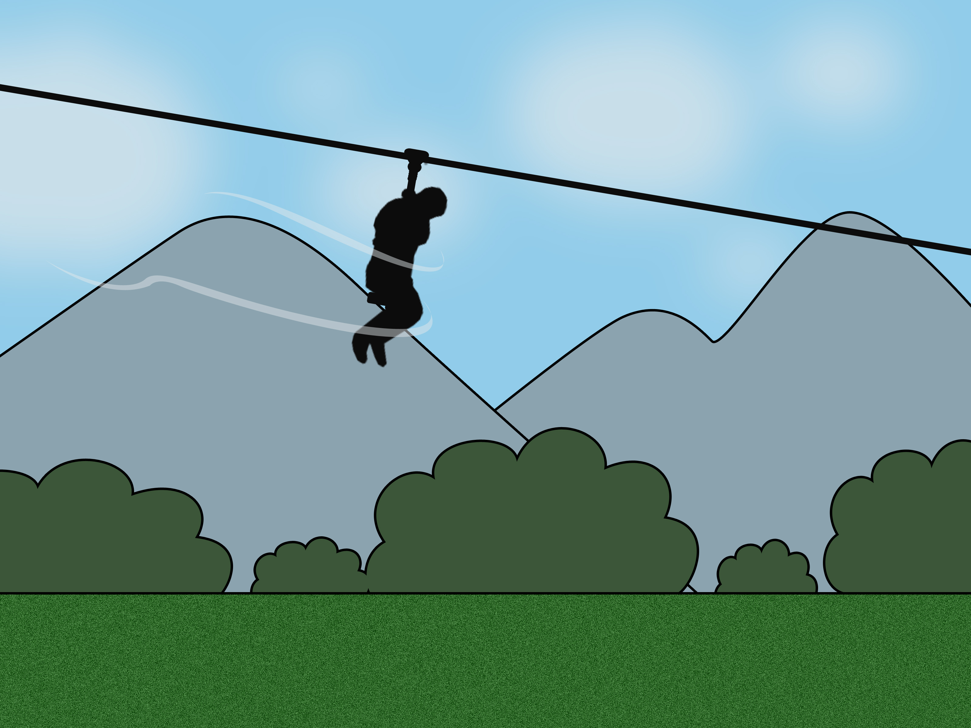 Swing clipart flying fox Swing: Steps Fox a Pictures)