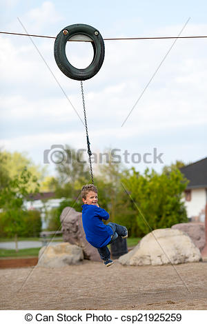Swing clipart flying fox Boy flying taking of csp21925259
