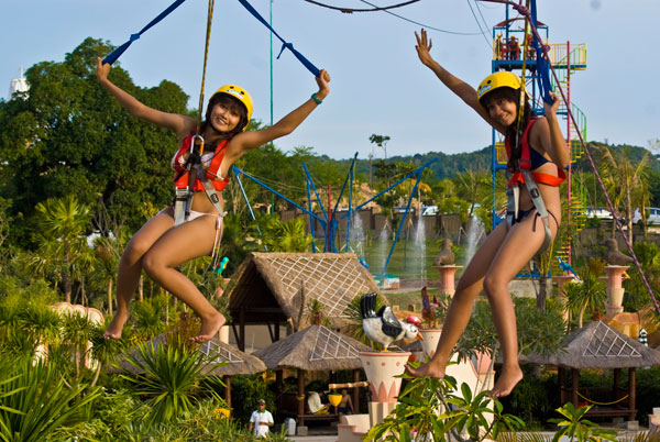 Swing clipart flying fox Park Bali Atrraction Green Attraction