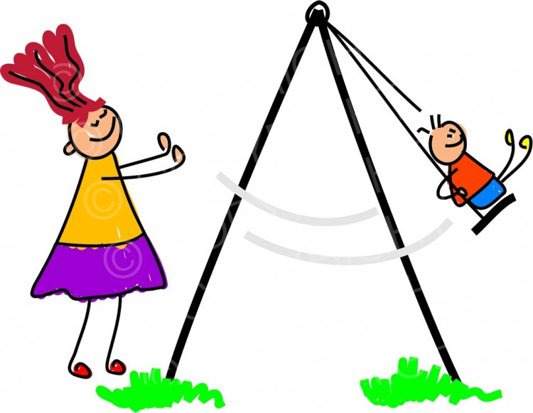 Swing clipart kid happy Happy  Art Prawny Clip