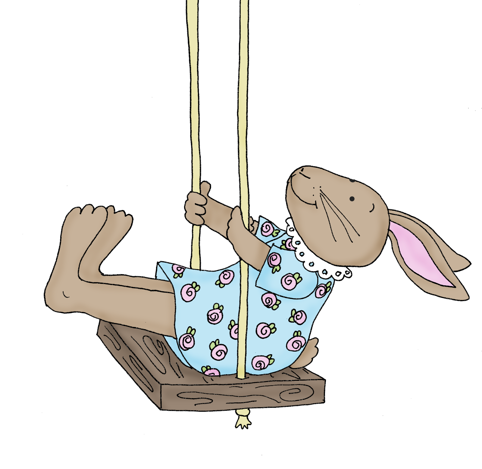Swing clipart mary Bunny Swing Bunny Dolls Digi