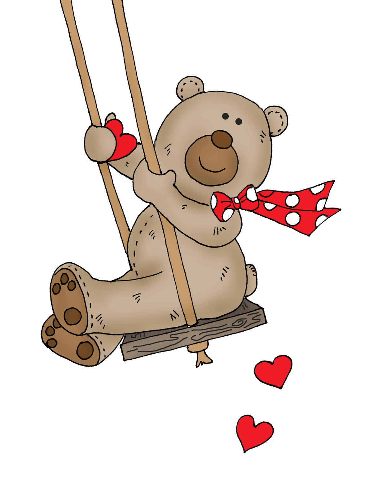 Swing clipart mary Stamps: Bear Bear Valentine Swing