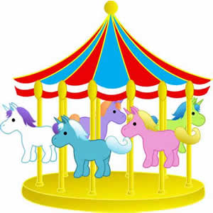 Ride clipart carousel PARK ATTRACTIONS merry go &