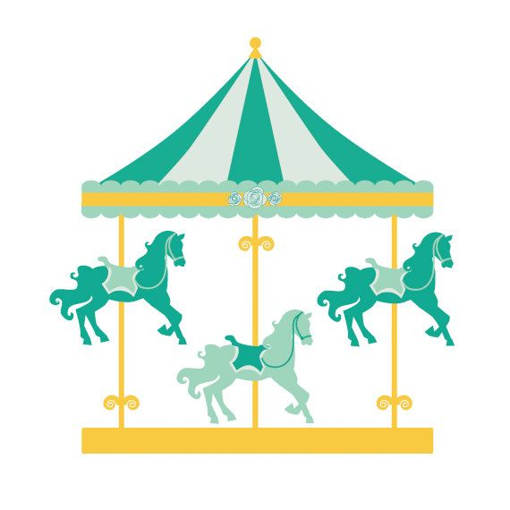 Ride clipart carousel Illustrations round Carousels clip Pinterest