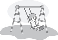 Swing clipart outline Kb Children playground Results on