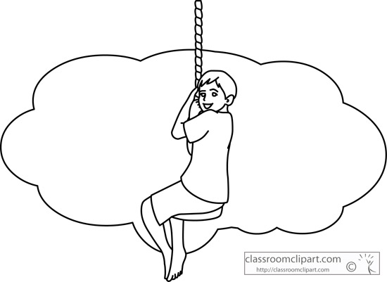 Swing clipart outline Playground_hanging_rope_swing_outline School jpg : :