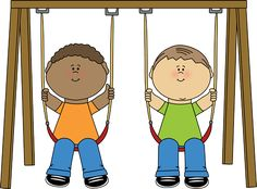 Swing clipart physical development Kids on Swing Escolares Clip