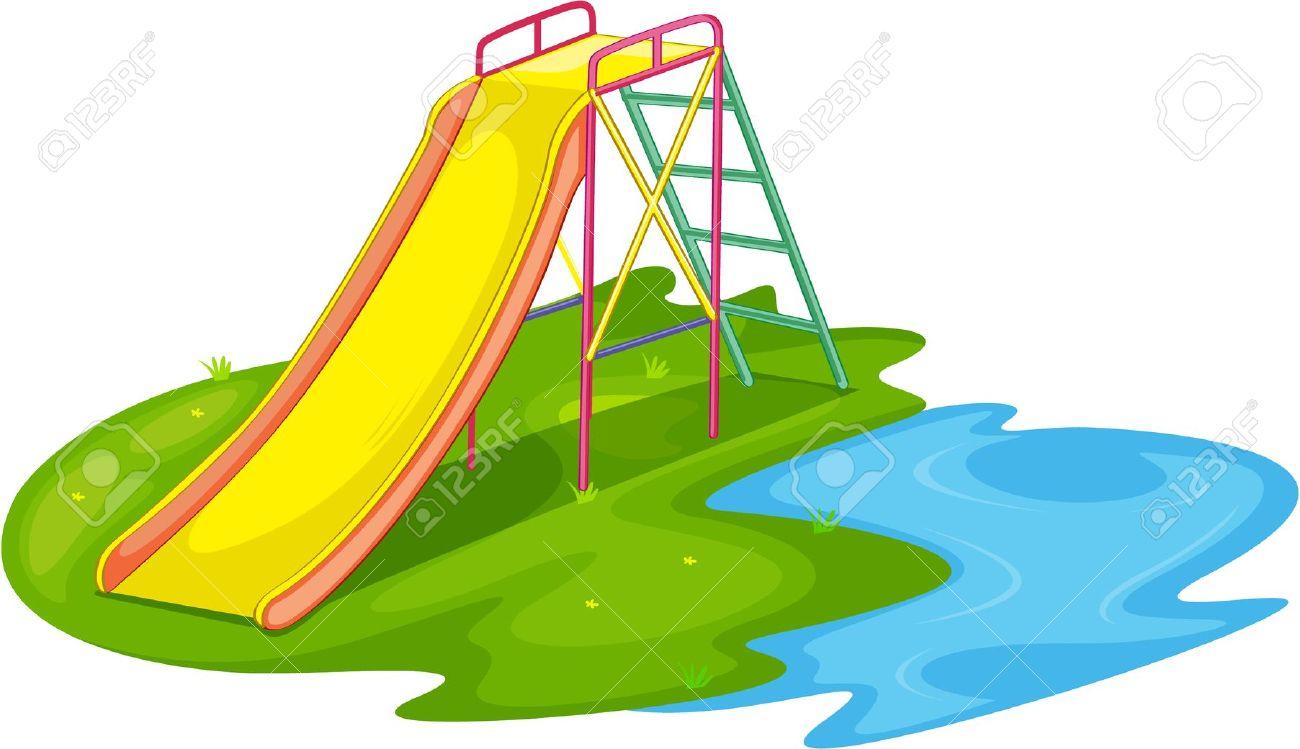 Playground clipart pool slide #7