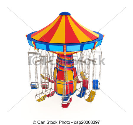 Carneval clipart swing ride Ride csp20003397 isolated of Swing