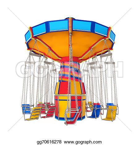 Carneval clipart swing ride Clip Carnival swing render Stock