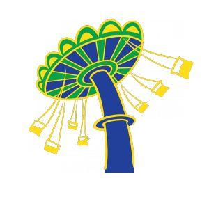 Carneval clipart fun park Clipart cliparts Park Swings Amusement