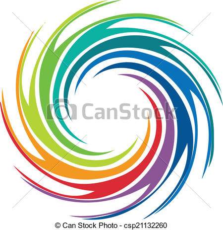 Swirl clipart abstract swirl  Vector colorful logo free