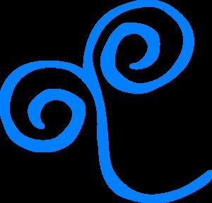 Swirl clipart air Art royalty Blue Clip Clip