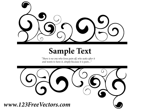 Swirl clipart banner Designs Swirl  Vector Graphic
