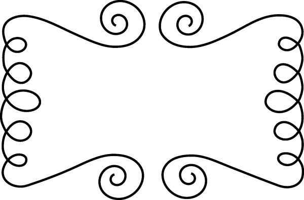 Swirl clipart banner Doodle Download Art Swirl Black