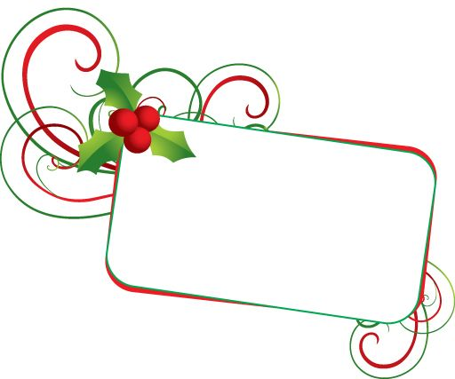 Holley clipart banner Christmas on mistletoe Christmas Art