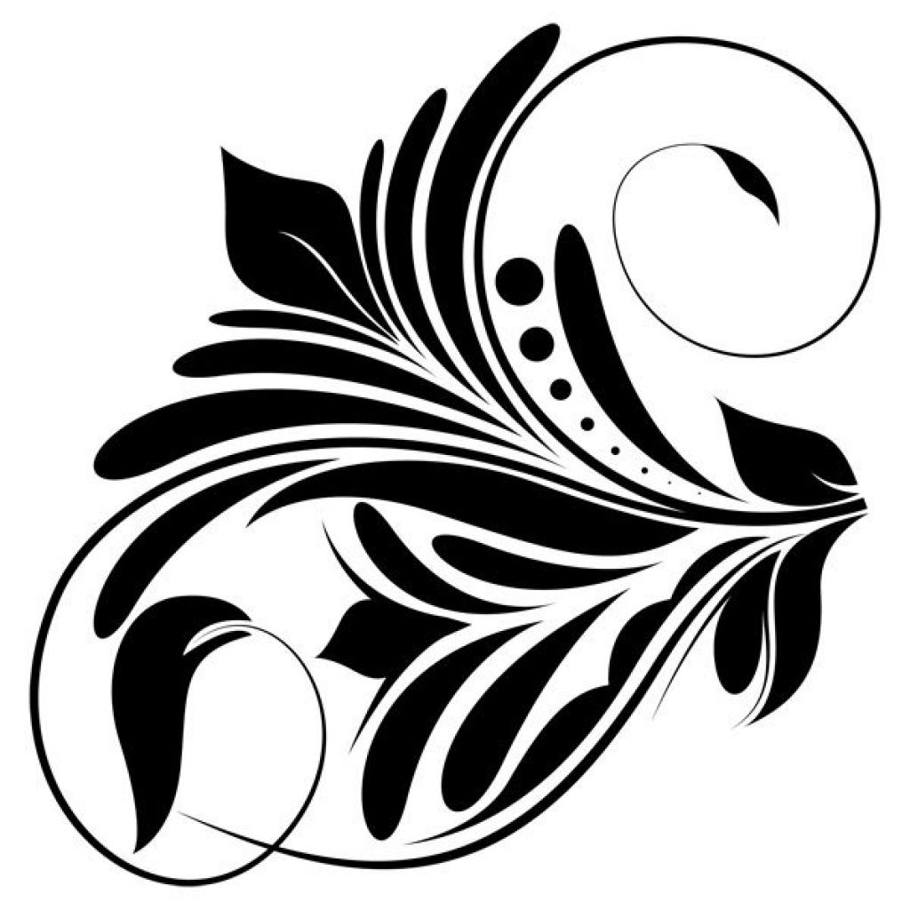 Swirl clipart black and white Art art clipart brushes swirl