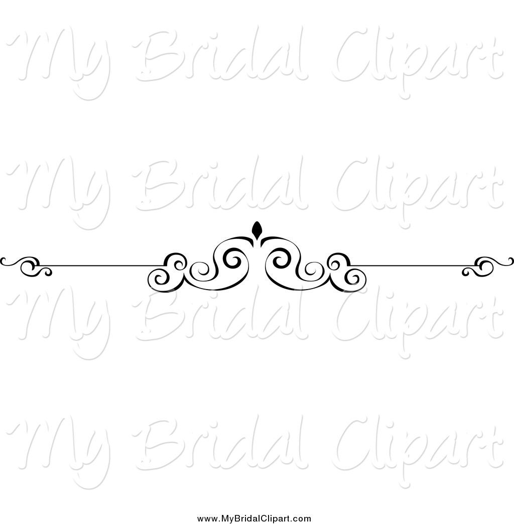 Swirl clipart border And Bridal Clipart Swirl White