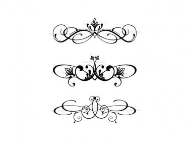 Swirl clipart calligraphy Flourish Border Fleur Clip Art