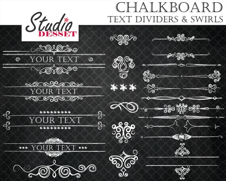 Swirl clipart chalk Calligraphy Calligraphy Chalkboard Chalkboard Swirls