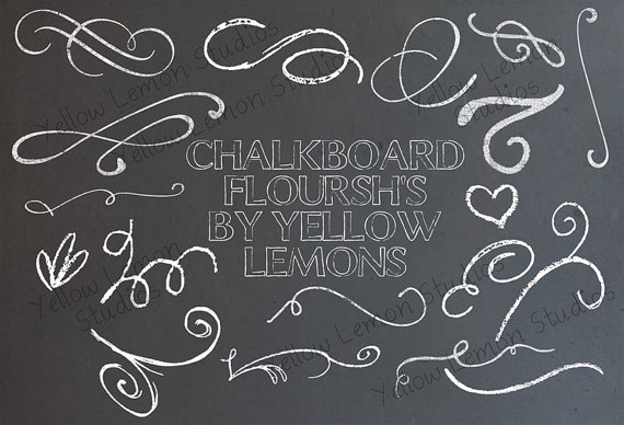 Swirl clipart chalk DOWNLOAD  INSTANT files swirls