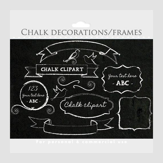 Swirl clipart chalk Birds frames  swirls commercial