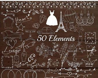 Swirl clipart chalk Clipart Etsy SALE40% Chalkboard swirl