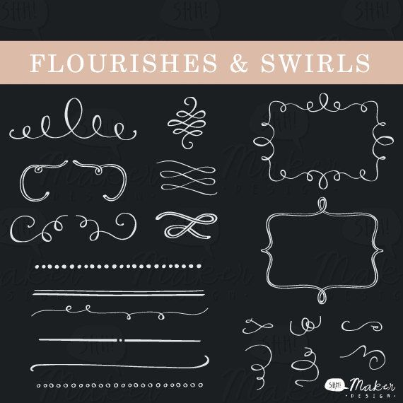 Swirl clipart chalk Art Clip best  Flourishes