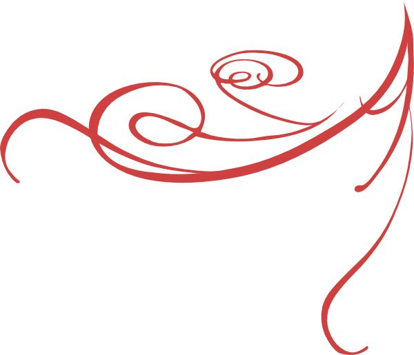 Red clipart abstract #2