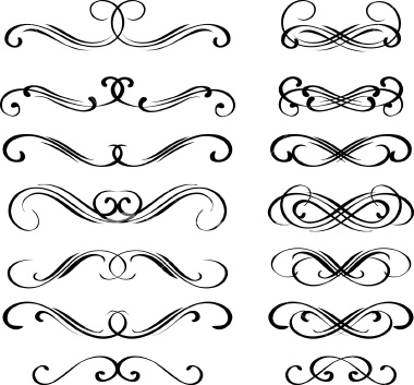 Drawn scroll printable  Download Cliparts Decoration art