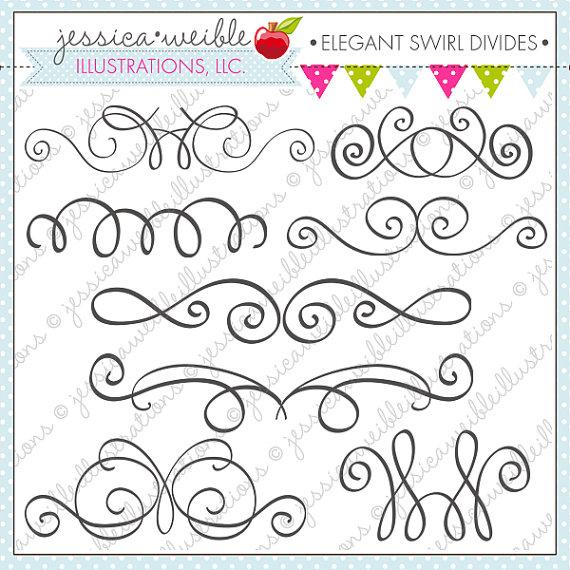 Swirl clipart cute Cute Elegant Cute Commercial Swirl