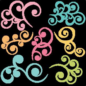 Swirl clipart cute Cuttables Kate Categories SVG Miss