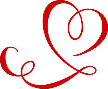Swirl clipart cute Heart  Download And Swirls