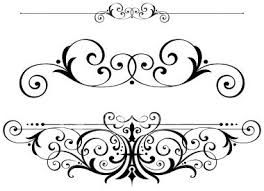 Classic clipart page accent Fretwork DESIGNS/PATTERNS/DECOR/ORNAMENTATION/EMBELLISHMENTS fleur swirls text