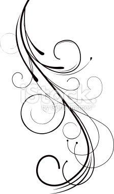 Drawn swirl line 19462988 Design Swirl Stock Clip