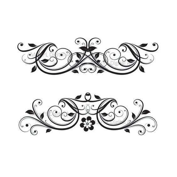 Decoration clipart wedding invitation Clip Art Swirl Wedding Flourish