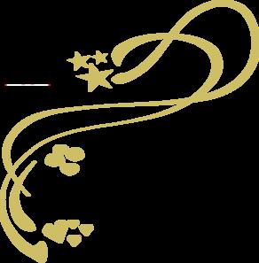 Swirl clipart gold  Clip Clipart Gold Art