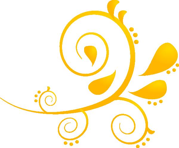 Swirl clipart gold Gold  Cliparts Free swirl