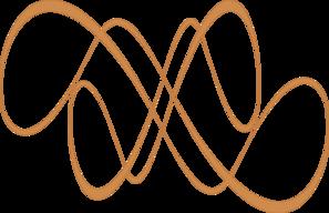 Swirl clipart gold  Gold Clip Swirl Art