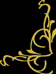 Swirl clipart gold Corner  Clip Art Swirl