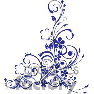 Blue Rose clipart side Gif eu LiLz Decorative Ink