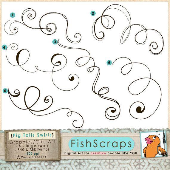 Curl clipart doodle & Digital about ClipArt Design