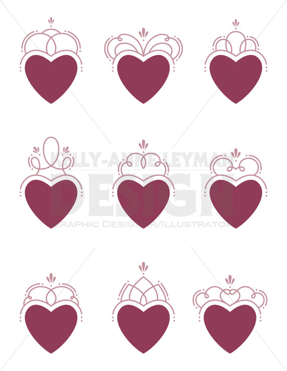 Swirl clipart love Clipart—Love—Clip Clip Clipart—Love—Clip Set—Swirl—Flourishes—Digital Hearts