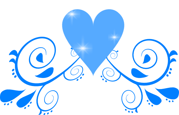 Swirl clipart love This Blue  as: online
