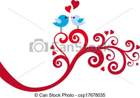 Swirl clipart love Love heart love with cute