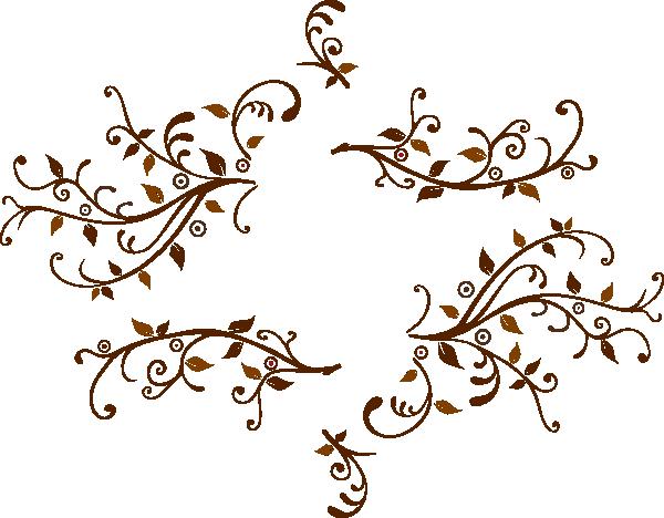 Swirl clipart monogram Monogram Leaf For at Swirl