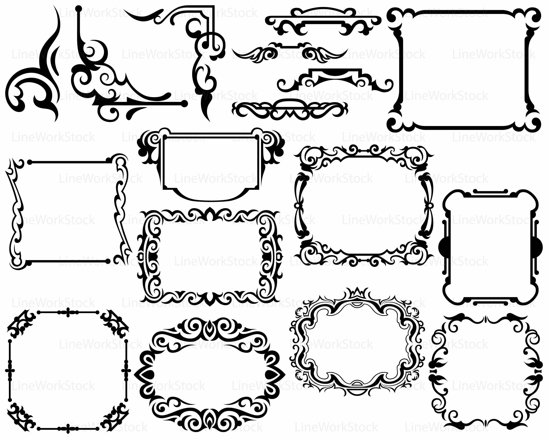 Swirl clipart monogram Frame file clipart silhouette Frame